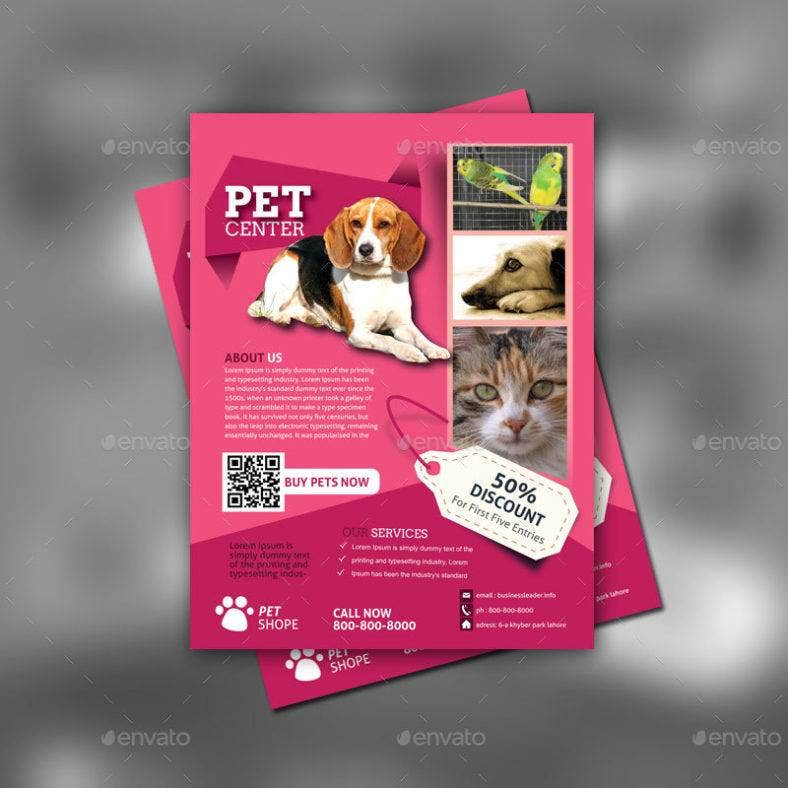 Pet Service Flyer Template