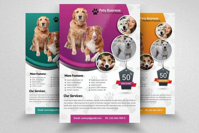 pet shop business flyer 788x526