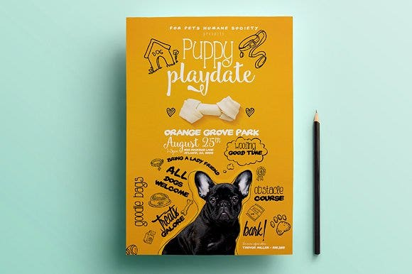 puppy playdate pet flyer