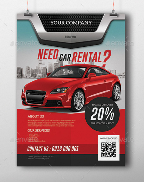 red-car-rental-flyer