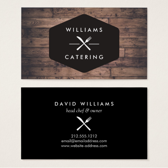Bbq catering business cards images card design and card for Bbq catering business cards