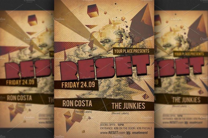 rustic-minimal-party-flyer