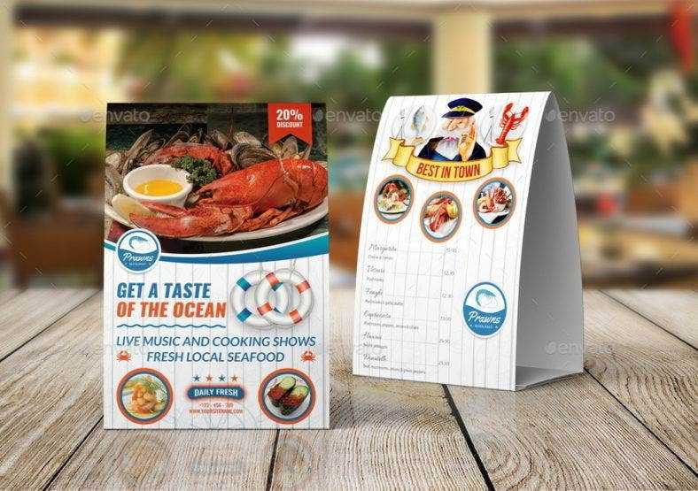seafood table tent card 788x555
