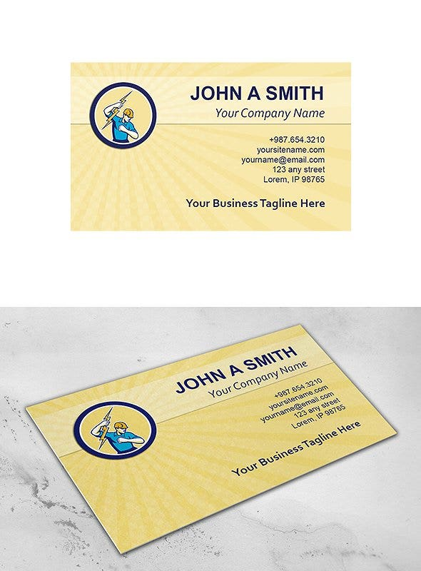 simple-electrician-business-card