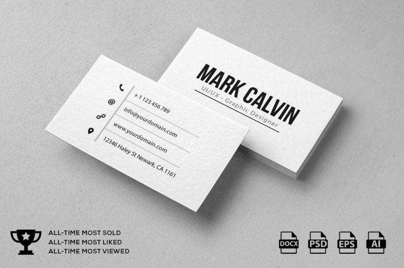 14 modern business card designs templates psd ai indesign simple modern business card friedricerecipe Gallery