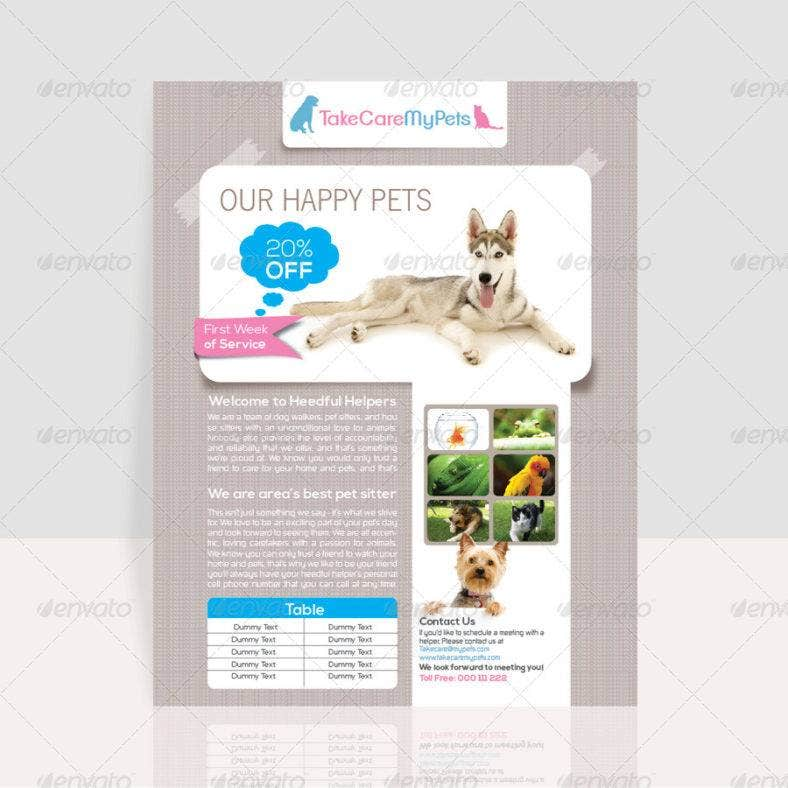 simple pet flyer 788x788