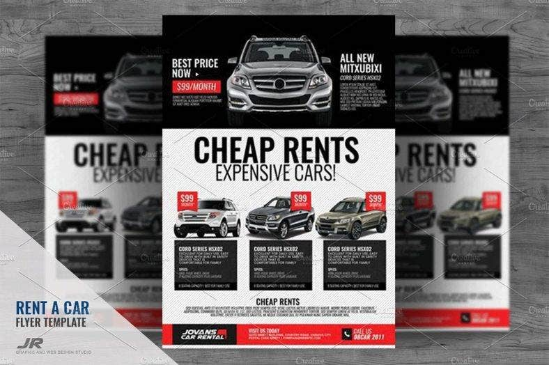 sleek-car-rental-flyer
