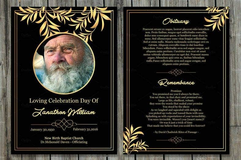 11 funeral memorial card designs templates psd ai for Funeral memory cards free templates