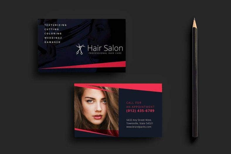 sleek hair stylist business card 788x524