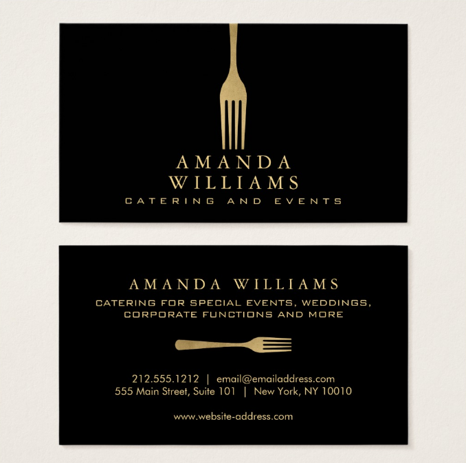 17 catering business card designs templates psd ai