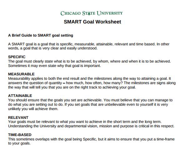 8 smart goal worksheet templates doc pdf free premium templates university smart goal worksheet ibookread ePUb