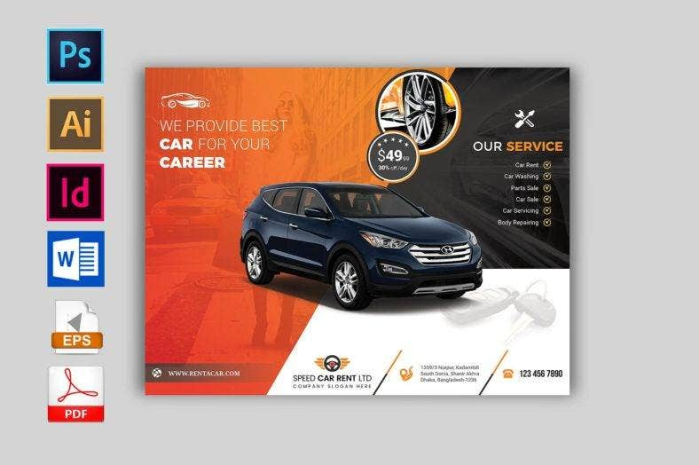 stylish-car-rental-flyer