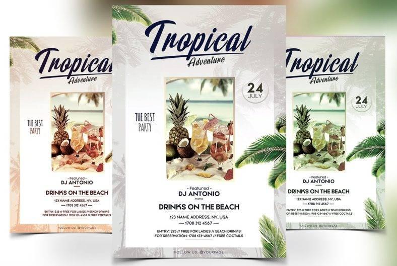 tropical-adventure-flyer
