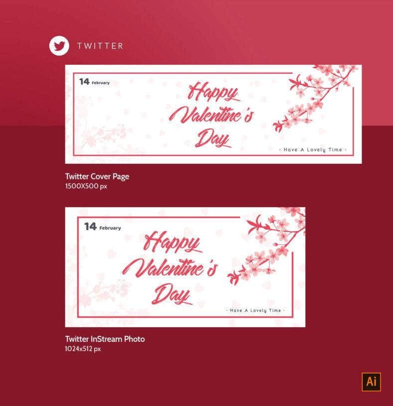 Valentines Day Twitter Design