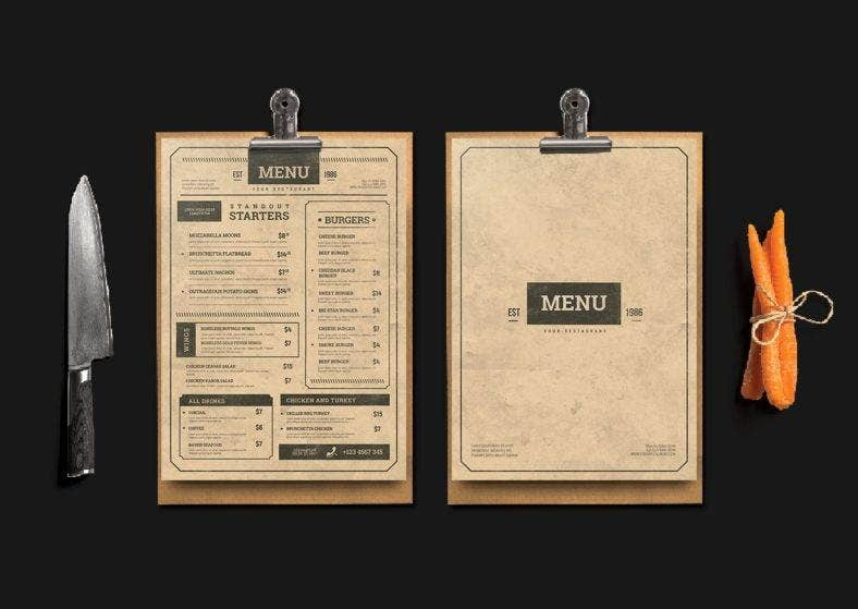 vintage-food-and-drink-menu
