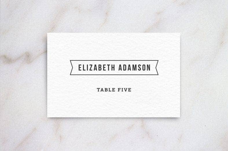 Table Place Card Designs  Templates  Psd Ai Indesign  Free
