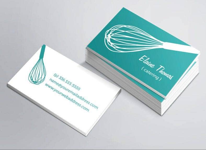 17 catering business card designs templates psd ai indesign whisk catering business card template reheart Choice Image
