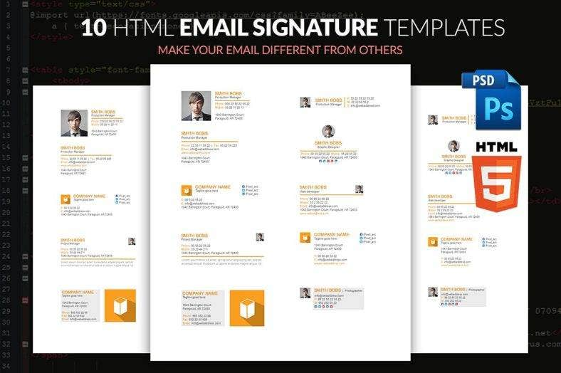 10 html email signature templates  788x524