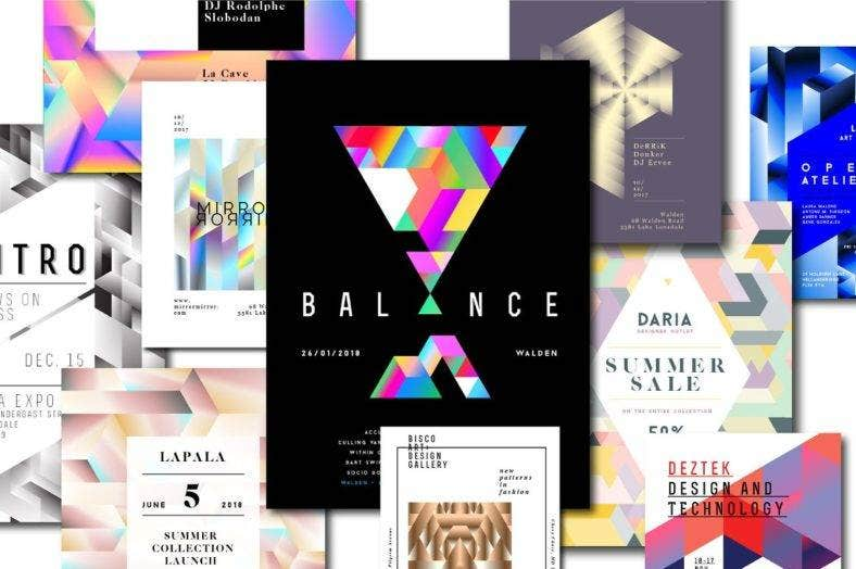 10_geometric_poster_templates