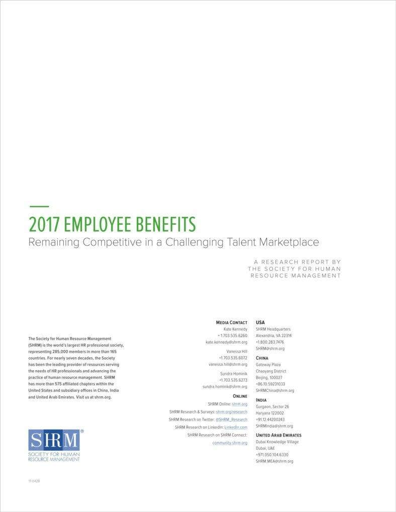 7  employee benefits survey templates