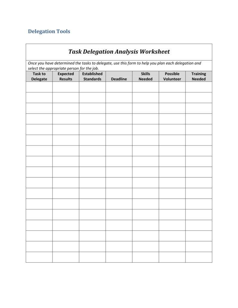 10 delegation worksheet templates pdf free premium templates