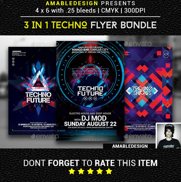 3 in 1 Techno Flyer Design