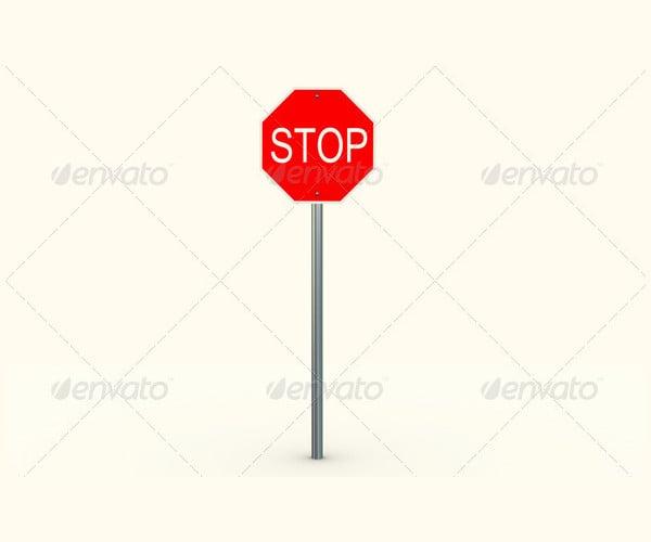 3d-stop-sign