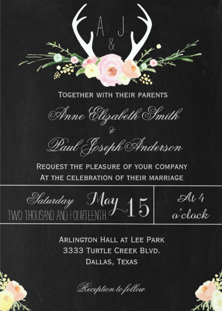 antlers-floral-chalkboard-camo-wedding-invitation-template