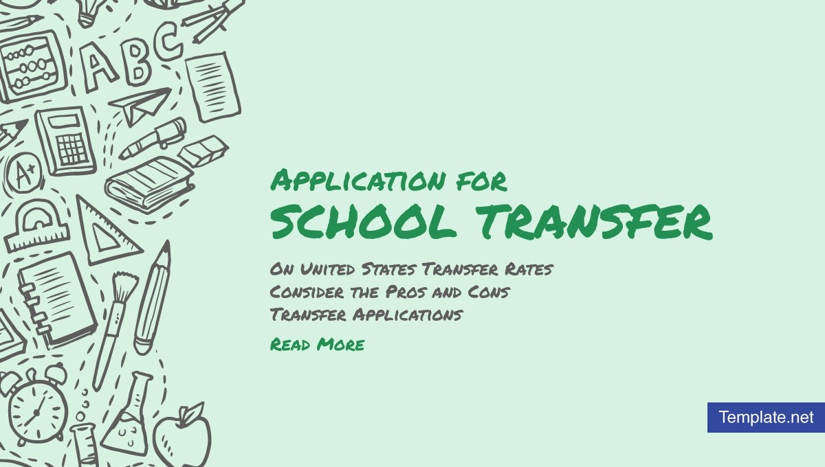 application for school transfer templates