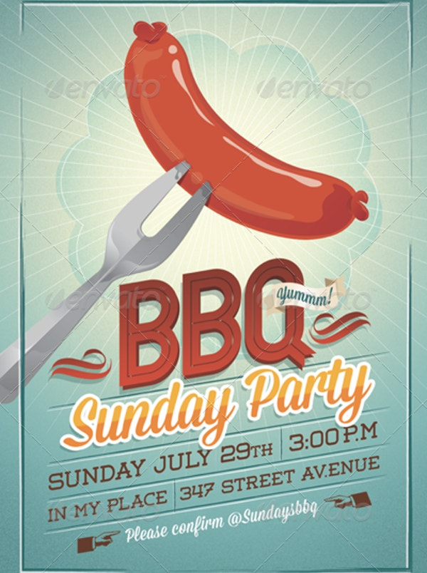 bbq summer party invitation