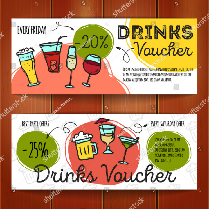 bar-restaurant-discount-promo-vector-template