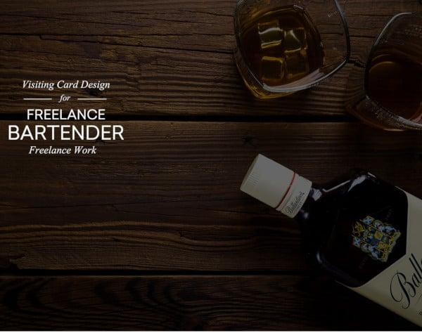 bartender visiting business card design