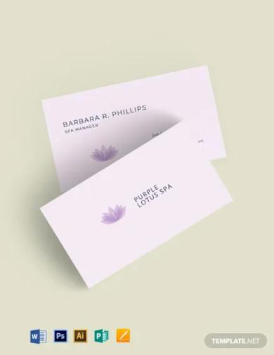 beauty salon spa business card template