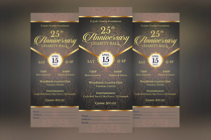 benefit anniversary invitation bundle template