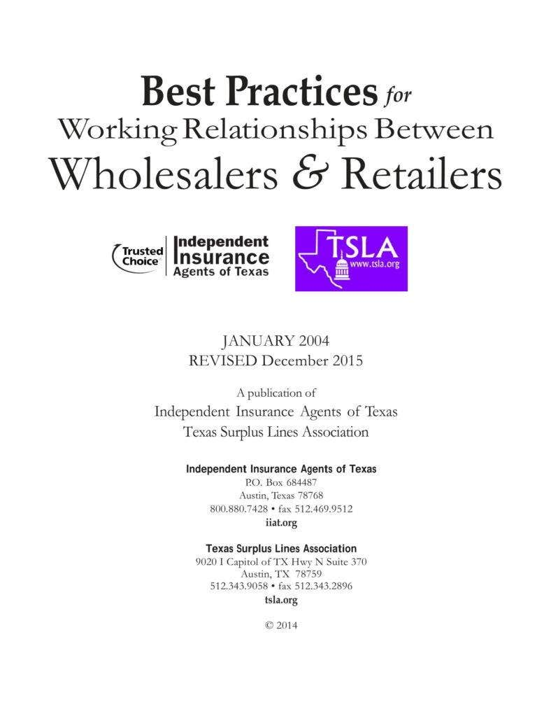 Best Practices For Wholesalers And Retailers