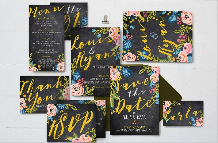 black-floral-wedding-template-package