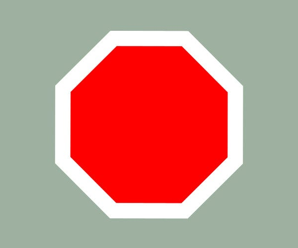 Blank PSD Stop Sign