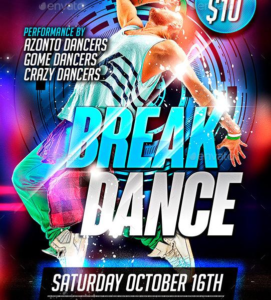 Break Dance Flyer Template