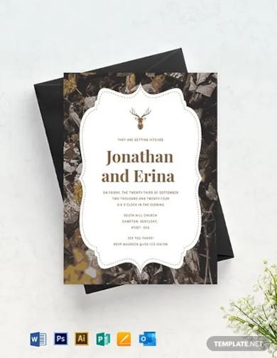 camo wedding invitation template