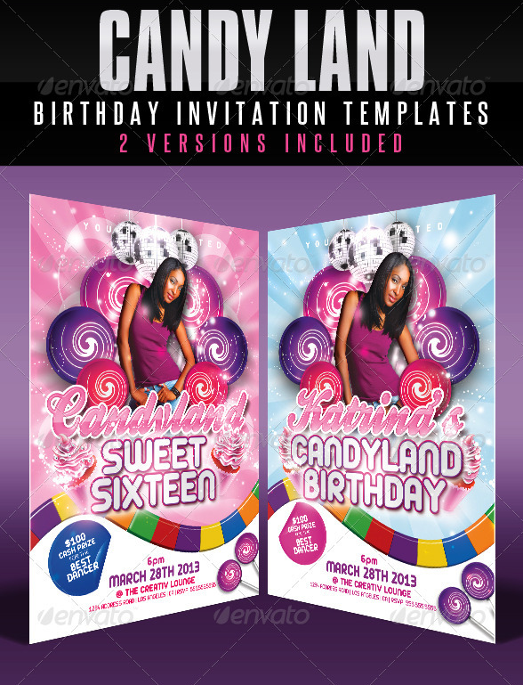 candyland_birthday_invitation_templates