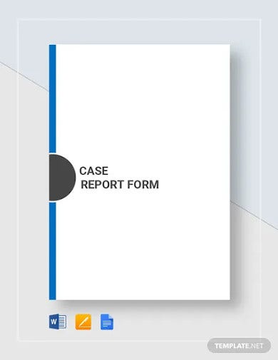 case report form template