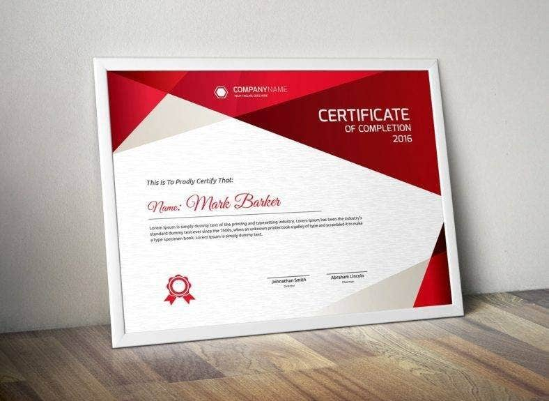 certificate sample of training completion 788x575