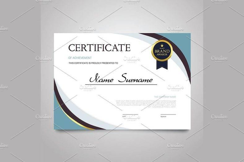 certificate_horizontal_elegant_vector_document