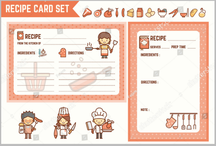14 restaurant recipe card templates designs psd ai free