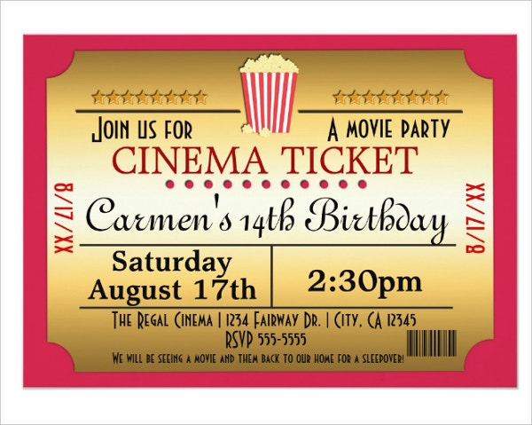 13  cinema invitation designs  u0026 templates