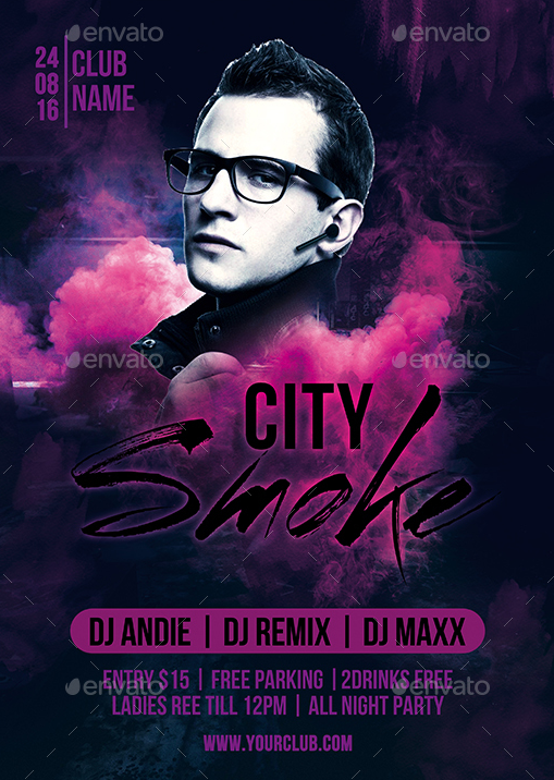 City Smoke Party Flyer