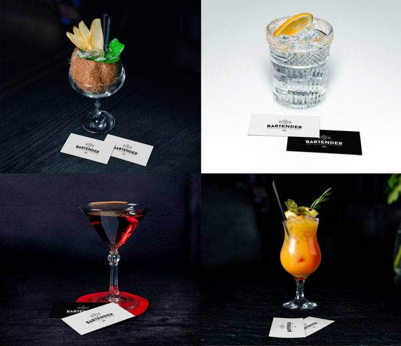 Classic Cocktail Bar Business Card