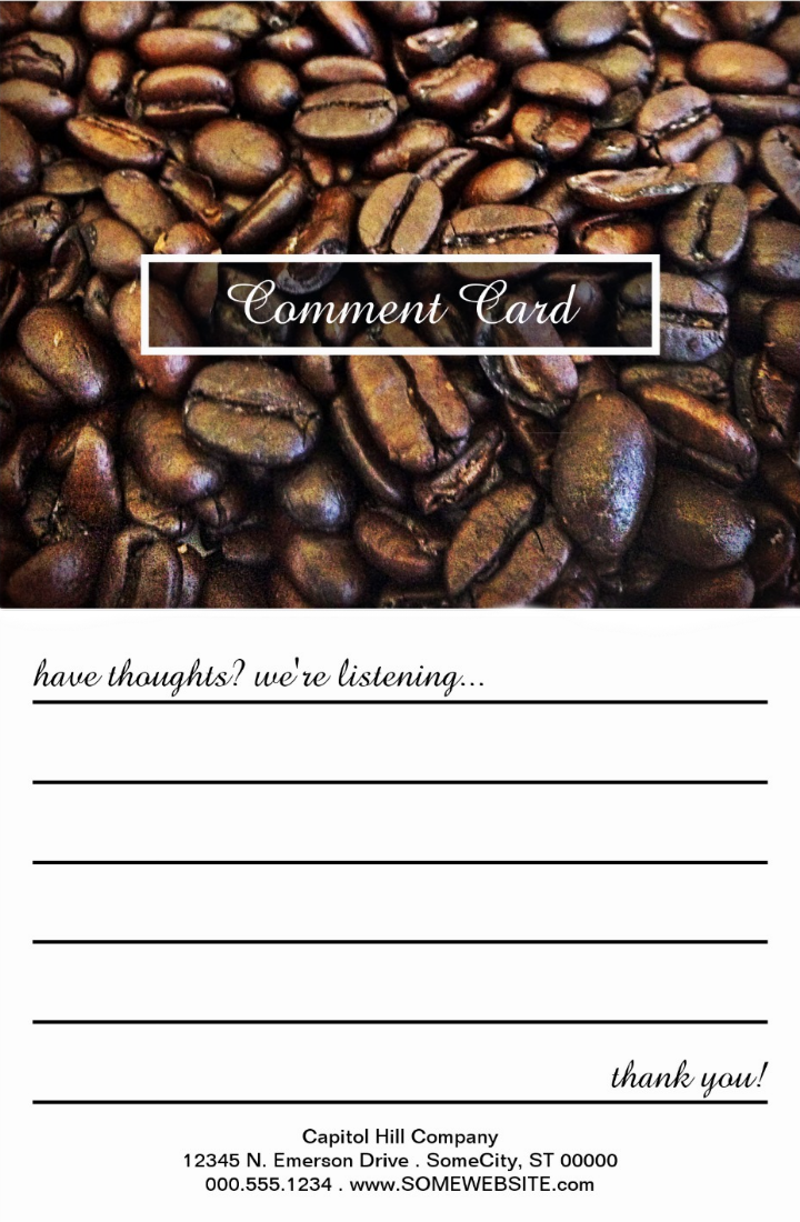 coffee-bean-design-restaurant-review-card-template