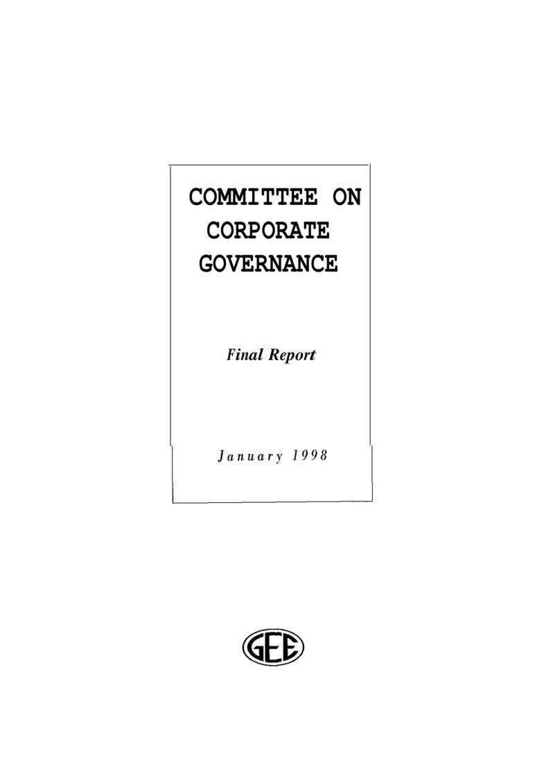 Committee On Corporate Governance