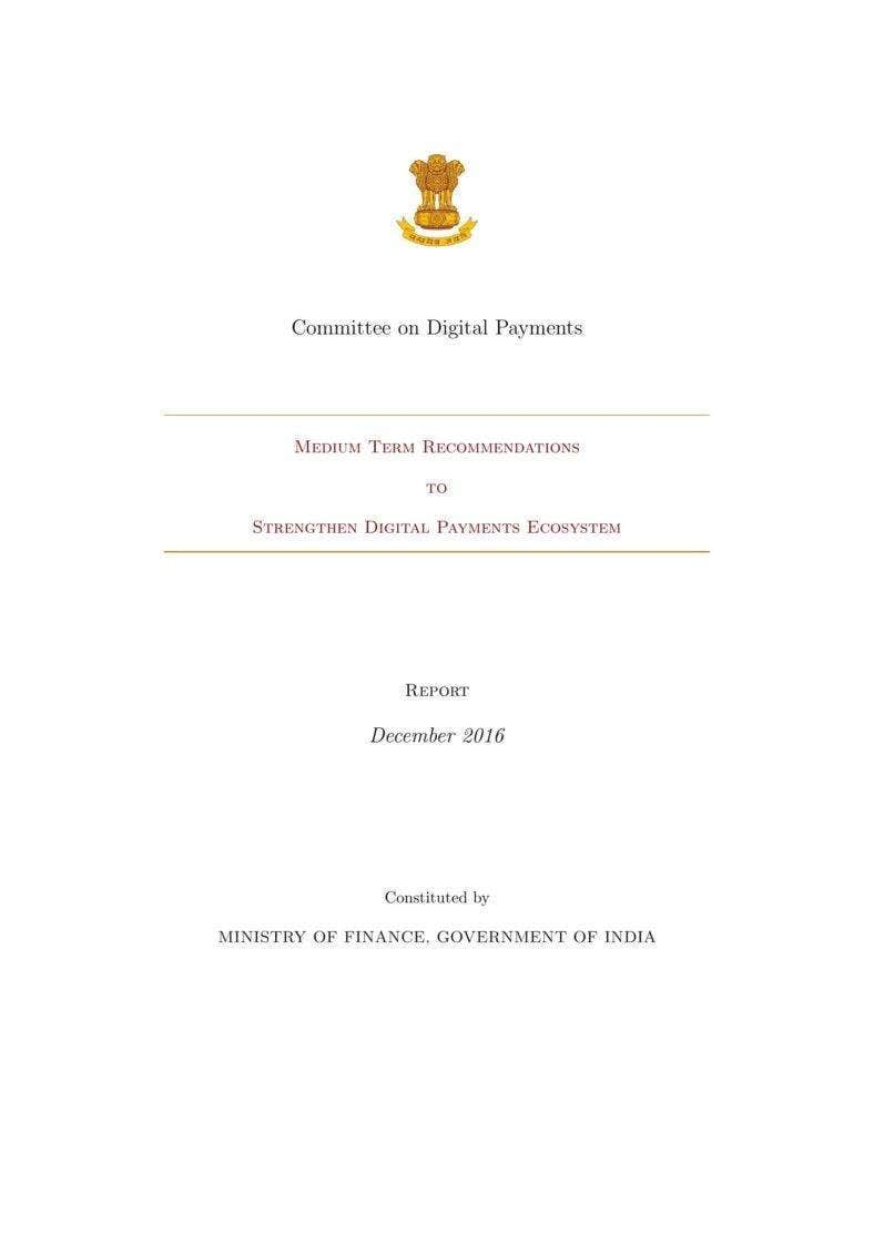 Committee on Digital Payments
